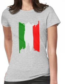 Italy flag art Womens Fitted T-Shirt