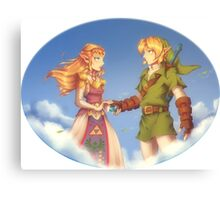 Zelda and Link Ocarina of Time Canvas Print