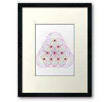Tetractys - 90 Circles - Seed of Life Framed Print