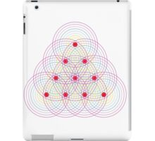 Tetractys - 90 Circles - Seed of Life iPad Case/Skin