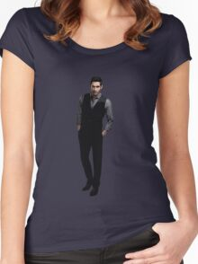 Tom Ellis - Lucifer Women's Fitted Scoop T-Shirt