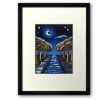 The Starry Canal Framed Print