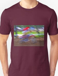 """The amazing effect of the slow speed 12  (c)(t)  with humor ! """"Kiss the cool effect"""" without digital effects with compact kodak z 1285! on 29.07.2012 Unisex T-Shirt"""