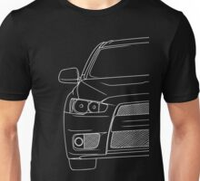 Evo 10 outline - white Unisex T-Shirt