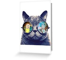Rick and Morty Cat Greeting Card