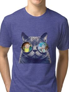 Rick and Morty Cat Tri-blend T-Shirt