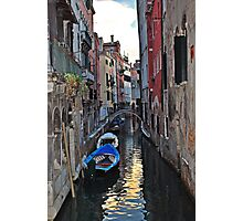 Sleeping Boats in Venice Photographic Print