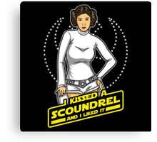 I Kissed a Scoundrel  Canvas Print