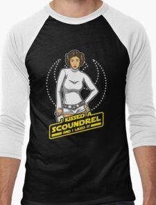 I Kissed a Scoundrel  Men's Baseball ¾ T-Shirt