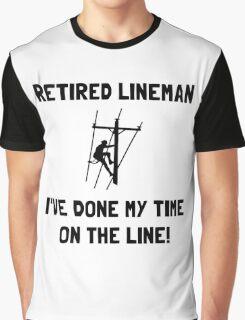 Retired Lineman Graphic T-Shirt