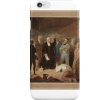 W. Thomson Dr Cotton, Ordinary of Newgate, Announcing the Death Warrant iPhone Case/Skin