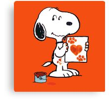 painting snoopy hand Canvas Print