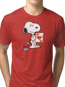 painting snoopy hand Tri-blend T-Shirt