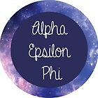 Alpha Epsilon Phi Galaxy Circle by emilyosman