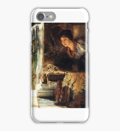 welcome-footsteps-by Lawrence Alma-Tadema iPhone Case/Skin