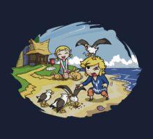 Zelda Wind Waker Link and Aril Kids Tee