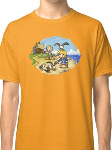 Zelda Wind Waker Link and Aril Classic T-Shirt