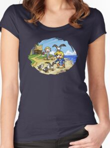 Zelda Wind Waker Link and Aril Women's Fitted Scoop T-Shirt