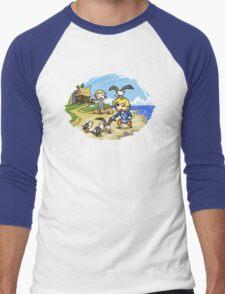 Zelda Wind Waker Link and Aril Men's Baseball ¾ T-Shirt