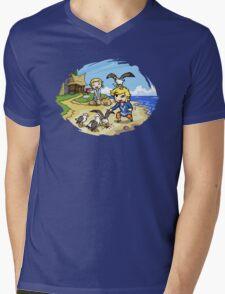 Zelda Wind Waker Link and Aril Mens V-Neck T-Shirt