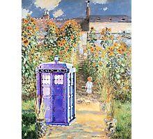 The Doctor in Monet's Garden Photographic Print