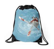 Canadian Skier Drawstring Bag