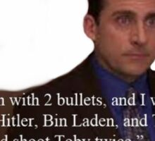 The Office- Michael Scott Toby Quote Sticker