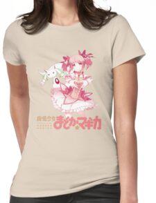 Madoka and Kyubey - Madoka Magica Womens Fitted T-Shirt
