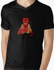 Chibi boy -black- Mens V-Neck T-Shirt