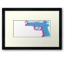 3D Gun Framed Print