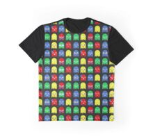 Pixel Ghost Video Game 8bit Geek Graphic T-shirt  Graphic T-Shirt