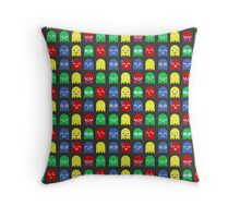 Pixel Ghost Video Game 8bit Geek Graphic T-shirt  Throw Pillow
