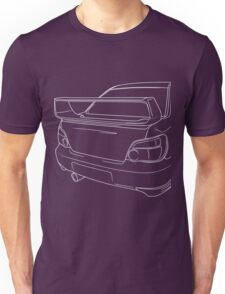 sti outline - white Unisex T-Shirt