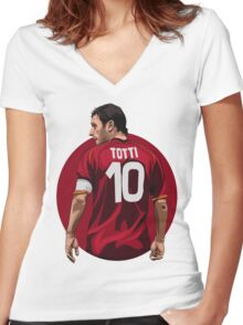TOTTI Women's Fitted V-Neck T-Shirt