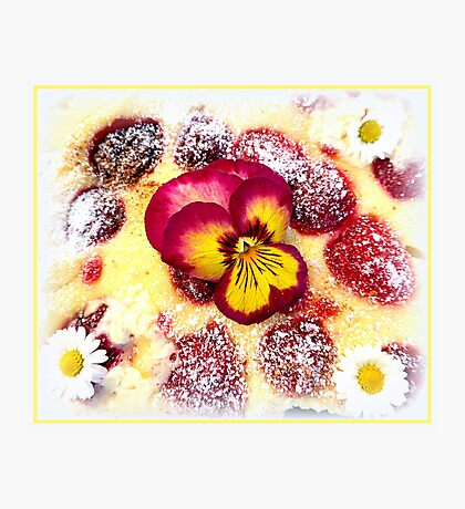 Raspberry cheesecake  Photographic Print
