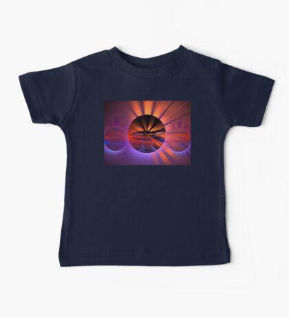 Peach Sunset Spheres Baby Tee