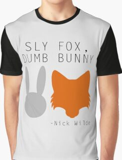 Sly Fox, Dumb Bunny - Nick Wilde Graphic T-Shirt