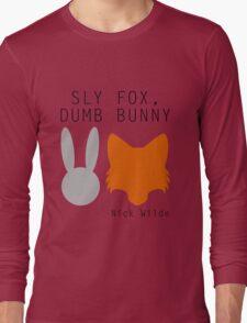 Sly Fox, Dumb Bunny - Nick Wilde Long Sleeve T-Shirt