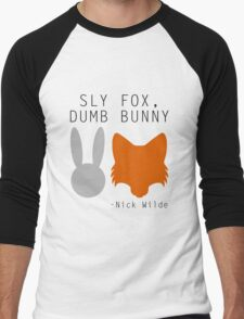 Sly Fox, Dumb Bunny - Nick Wilde Men's Baseball ¾ T-Shirt