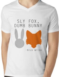 Sly Fox, Dumb Bunny - Nick Wilde Mens V-Neck T-Shirt
