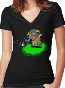 Lil' Dovah Women's Fitted V-Neck T-Shirt