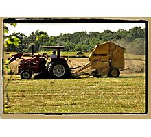 """""""Burnin' Daylight and makin' Hay""""... prints and products Photographic Print"""