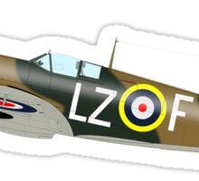 SPITFIRE, WAR BIRD, War Plane, British, Airplane, Fighter, WWII, 1942,  Sticker