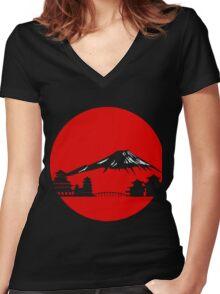 Fujiyama Women's Fitted V-Neck T-Shirt