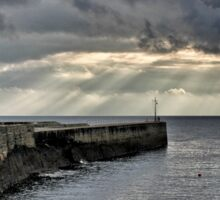 Evening Sky, Porthleven Sticker
