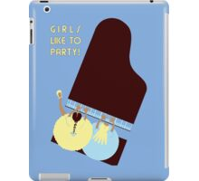 Retro style Girls like to Party! iPad Case/Skin