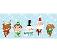 Christmas Crew - Blue - Lines Photographic Print