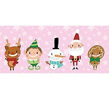 Christmas Crew - Pink - Lines Photographic Print