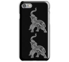 Black & White Elephants Mandala iPhone Case/Skin