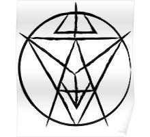 Soul Eater Sigil (Black) Poster